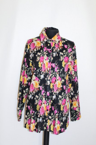 Camasa print trandafiri galbeni si roz anii '90