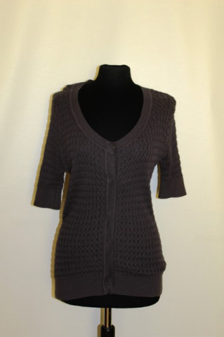 Bluza tricotata gri repro anii '60