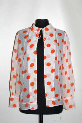 Jachetă buline portocalii anii 30