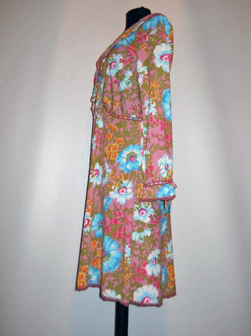 Baby doll vintage print floral anii '60
