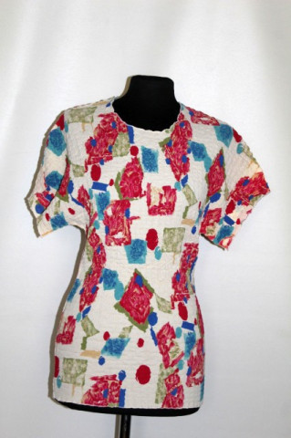 Bluză retro gofrată anii 90