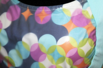 Bluza turcoaz buline repro anii '60