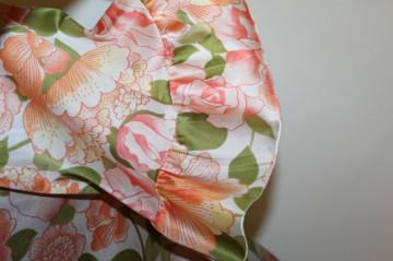 Bluza vintage cu flori verzi si portocalii anii '50