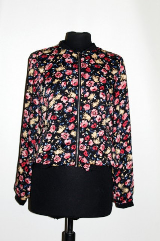 Bomber print floral repro anii '80