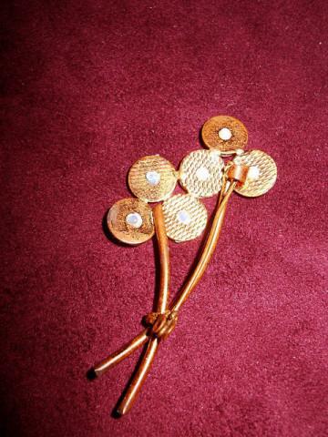 Brosa vintage buchet de flori anii '40