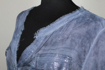 Cămașă albastru denim repro anii 80