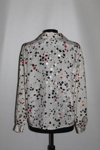 Camasa print geometric bicolor anii '70