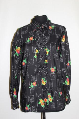 Camasa print patrate si flori anii '70