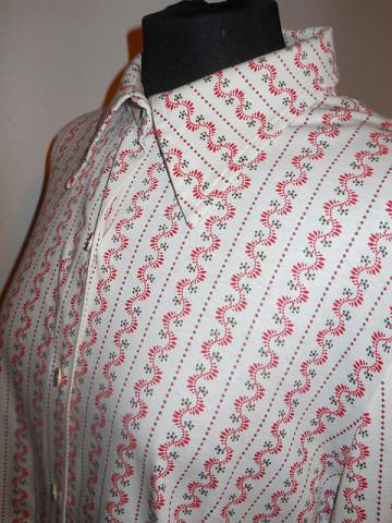 Camasa print popular stilizat anii '70