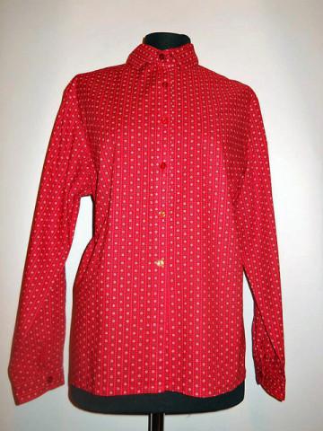 Camasa rosie floricele anii '70