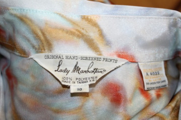 "Camasa vintage bleu ""Lady Manhattan"" anii '70"