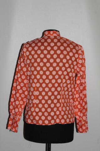 Cămașă vintage portocalie broderie anii 70