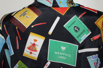Cămașă vintage print pachete de țigări anii 50