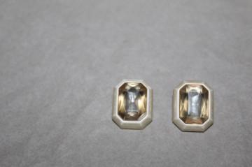 Cercei ivoire cristal mare anii 60