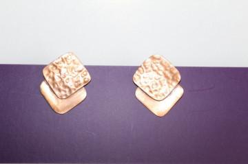 Cercei romburi din alamă anii 40
