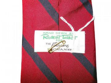 Cravata rosie dungi oblice anii '60