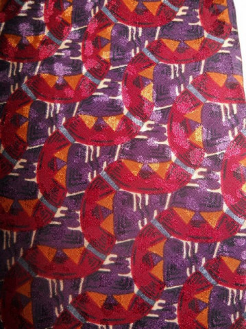 "Cravata vintage print geometric ""Christian Dior"" anii '70"
