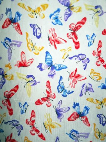 Esarfa retro print fluturi anii '80