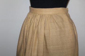 Fustă din stofă de lană print vegetal anii 50