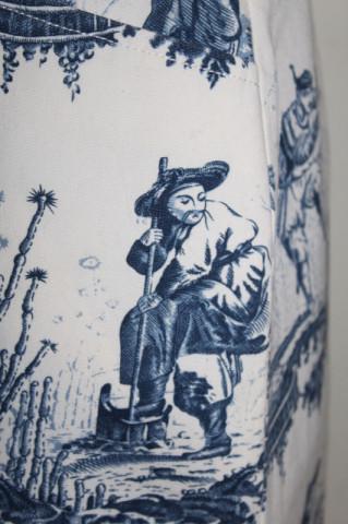 Fustă din toile de Jouy anii 80 - 90
