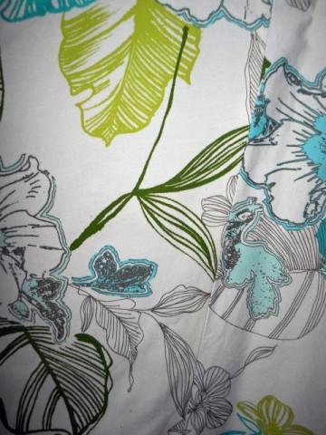 Fusta flori verzi si turcoaz repro anii '70