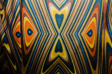 Fusta maxi print psihedelic anii '70