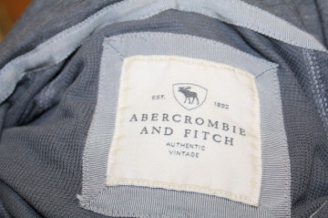Hanorac gri Abercrombie & Fitch