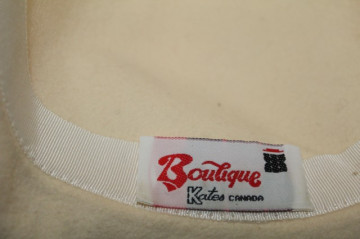 "Palarie vintage ""Boutique Kates Canada"" anii '70"