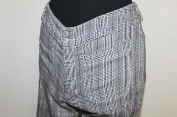 Pantaloni carouri albastre anii '90