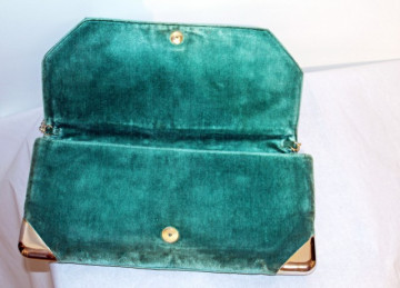 """Poseta vintage verde din catifea """"Zenith"""" anii '50"""