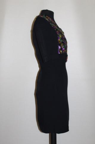 Rochie de ocazie bust paiete multicolore anii 60