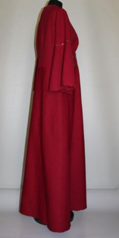 Rochie de seara rosu Shiraz anii '70