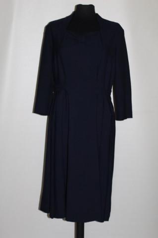 Rochie din stofa bleumarin anii '50