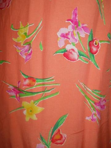 Rochie frez print floral anii '80