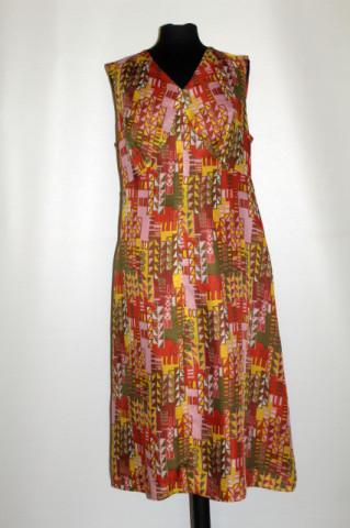Rochie mod vintage print anii '60