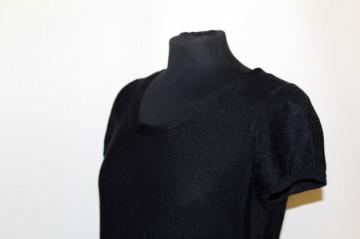 Rochie neagra din tricot repro anii '70