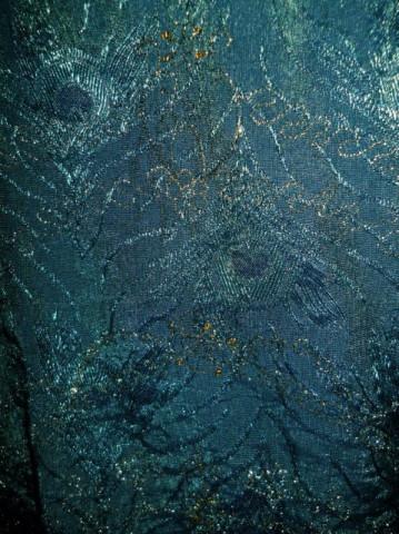 Rochie verde pasmanterie aurie anii '90