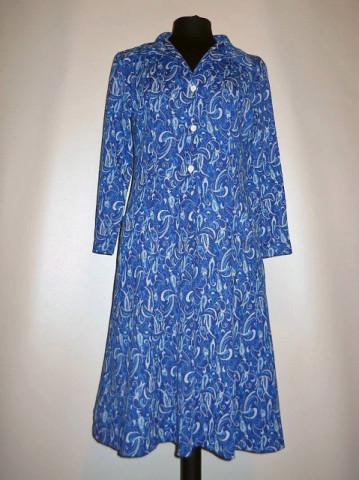 Rochie vintage din jerse albastru anii '60