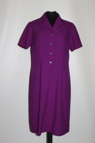 Rochie vintage din stofă violet anii 60