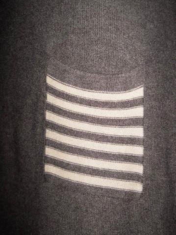 Rochie vintage din tricot gri cu dungi anii '70