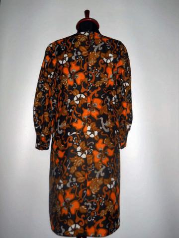 Rochie vintage flori portocalii anii '60