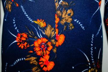 Rochie vintage flori portocalii anii '70