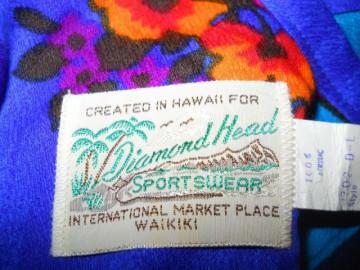 "Rochie vintage hawaiana ""Diamond Head"" anii '60"