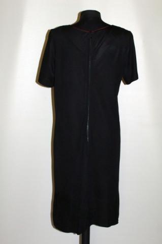 Rochie vintage neagra cu buzunare oblice anii '40