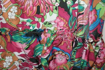 Rochie vintage print crizanteme anii 60