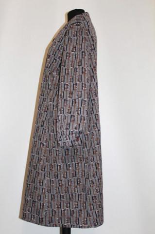 Rochie vintage print geometric pe fond gri anii '60
