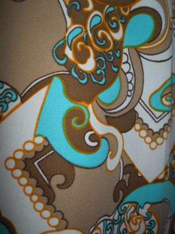 Rochie vintage print paisley stilizat anii '60