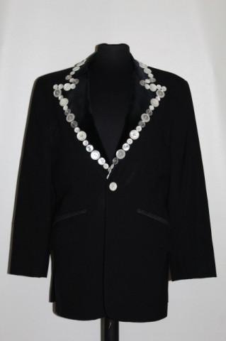 Sacou retro negru nasturi ornamentali anii '80 - '90
