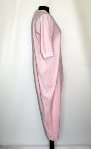 Salopetă roz din catifea anii 90