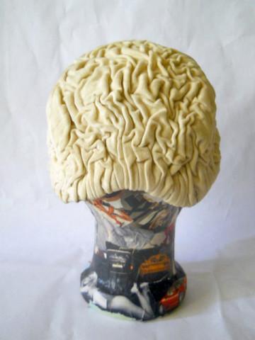 Semi-calota catifea ivoire anii '30 - '40